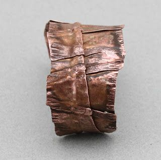 OscarCrow Handmade Jewelry: Beaten copper bracelet Tutorial // Basic materials Intro good hammering fun //