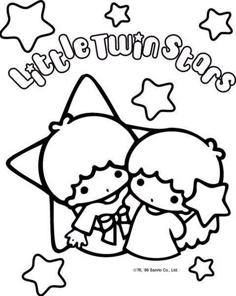 Sanrio characters coloring pages coloring page little twin stars photo 2370199 fanpop fanclubs