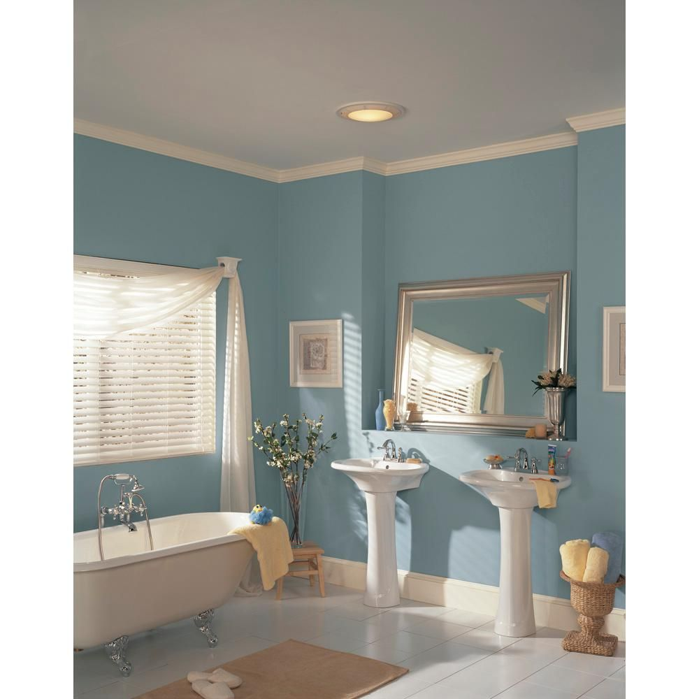 Broan 100 CFM Ceiling Bathroom Exhaust Fan with Light and ...