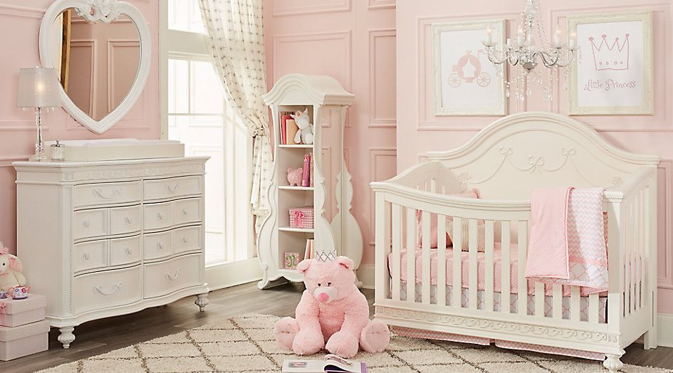 Disney Princess White 4 Pc Nursery Nursery Room Sets White