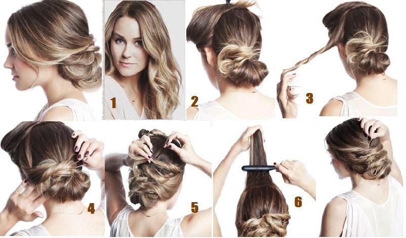 Exemple de coiffure cheveux long