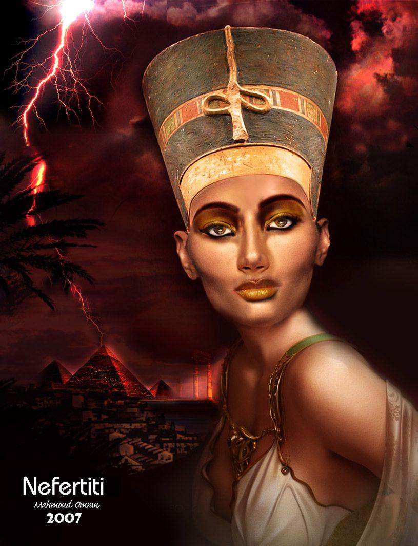 Nefertiti Art   nefertiti my love by mahmoudz digital art ...