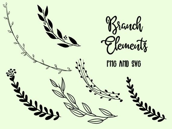 Photo of FLOWER ELEMENTS, floral wreaths, hand drawn wreaths, doodle clipart, floral wreaths, rustic, PNG, SVG, vector wreaths, wedding