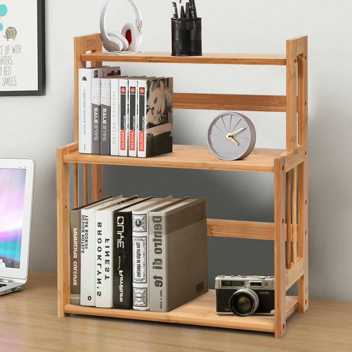 3 Tier Bamboo Spice Rack With Adjustable Shelf Bamboo Spice Rack Spice Rack Storage Adjustable Shelving