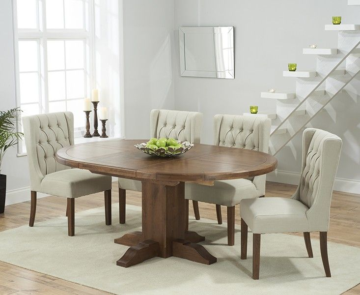 Buy The Torino Dark Solid Oak Extending Pedestal Dining Table With Captivating Oak Dining Room Furniture Inspiration