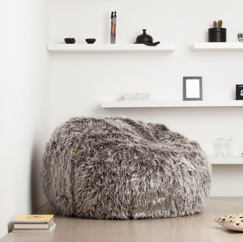 Sitzsack vetsak large Flokati grey | Pinterest