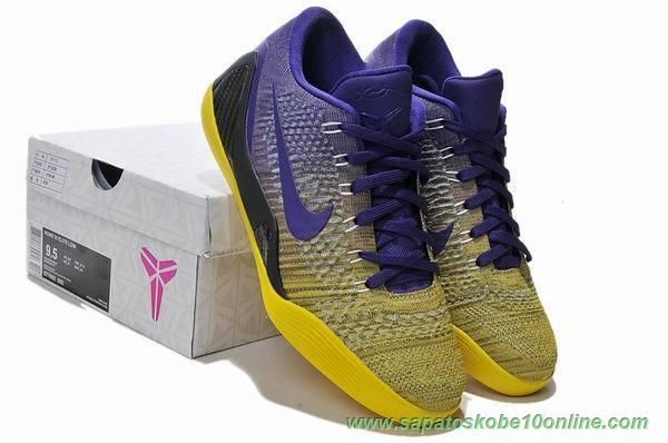 new style 355ea a9c85 ... purchase sites de lojas de tenis nike kobe 9 elite azul amarelo 677992  993 purple ba0a5