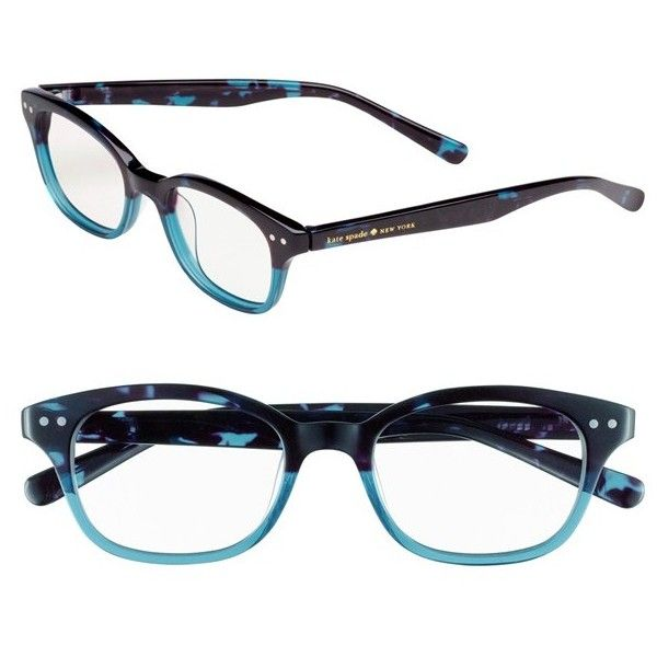 8c74577f79e7 kate spade new york 'rebecca' 49mm reading glasses ($68) ❤ liked on Polyvore  featuring accessories, eyewear, eyeglasses, glasses, sky blue tortoise, ...
