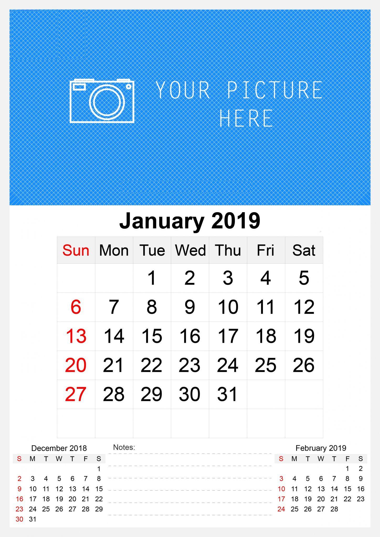 January 2019 Printable Calendardaily Quotes January 2019 Wall Calendar #January #January2019