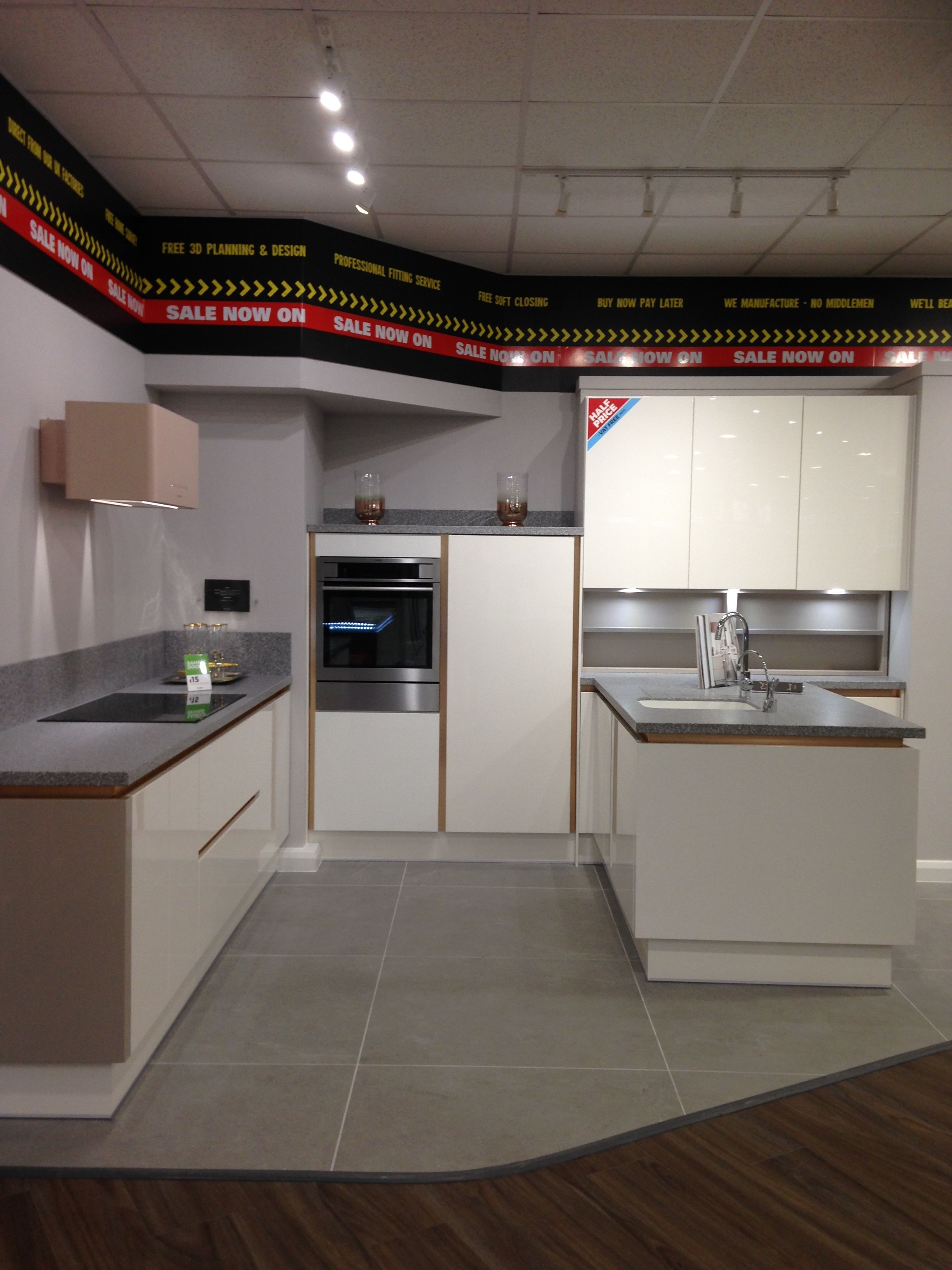 Cream gloss Milano Pacrylic Wren Kitchens   Kitchen remodel small ...