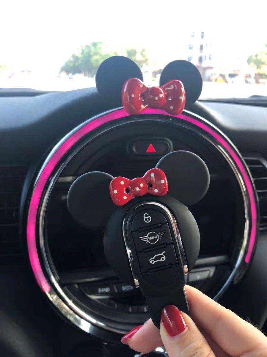 Pink Mini Silicone Key Case Cover For Mini Cooper F55 F56 FOB Smart Key