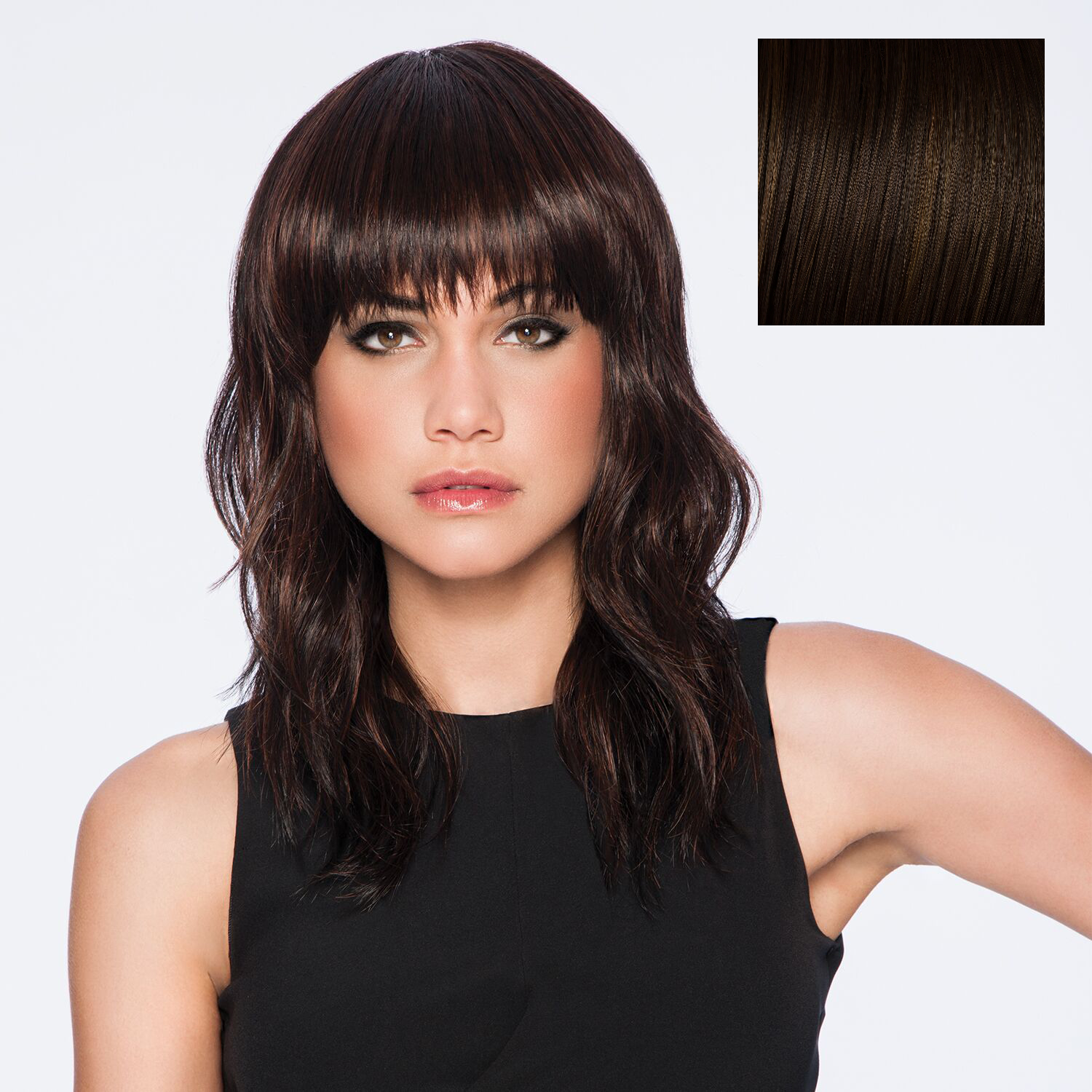 Hairdo Wave Cut Wig Chestnut | Synthetic Hair Extensions