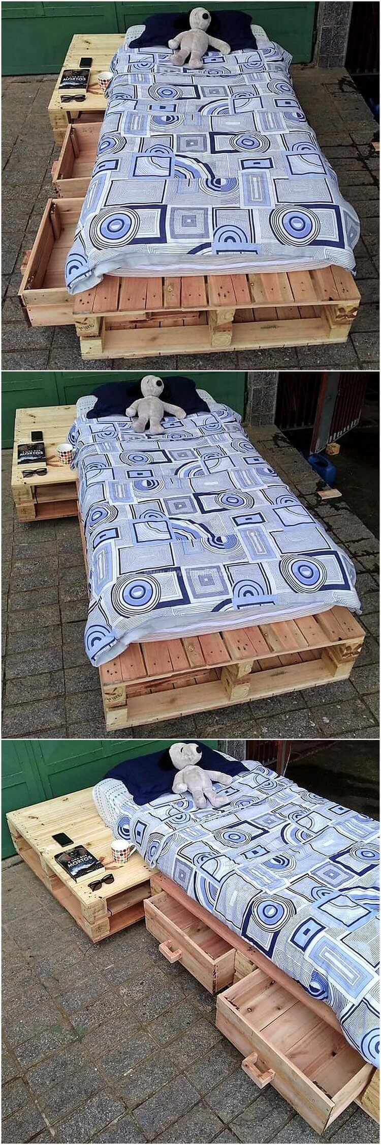 DIY Home Furniture Ideas with Used Shipping Pallets #oldpalletsforcrafting
