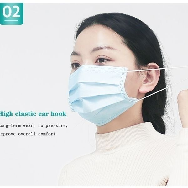 Photo of New Hot Best Selling 50 Pcs Disposable Sanitary Masks – Face Mask with Earloops Protect Yourself Against Dust Pollen Allergens Flu 3 Ply Safety Face Masks(Blue) – ALSUPERSALES