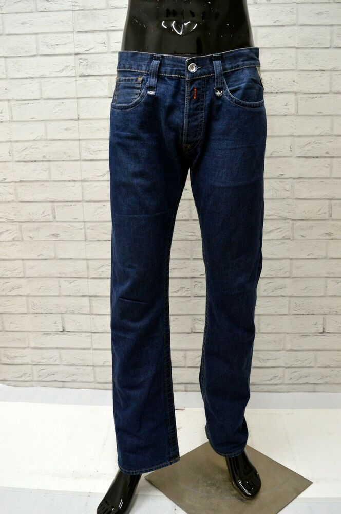 more photos 8a515 44ad3 Jeans REPLAY Uomo Taglia Size 33 Pantalone Pants Man Cotone ...