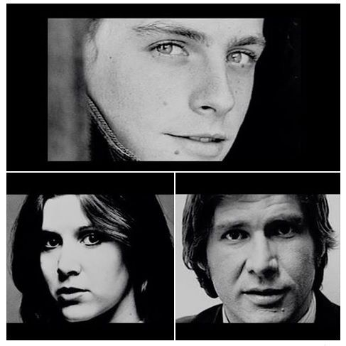 Super young Star Wars cast - Mark Hamill, Carrie Fisher, and Harrison Ford