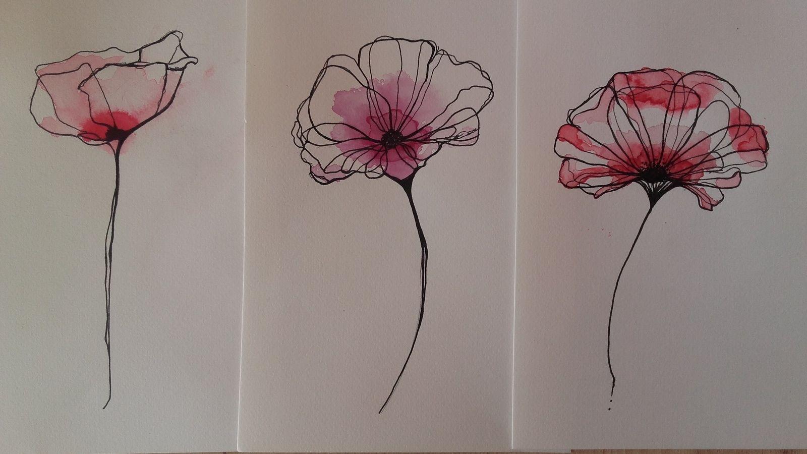 Dessins Realises Au Crayon Noir Et Aquarelle Format A5 Tattoo