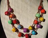 Turquoise Macrame Bracelet por MyleenaMadeIt en Etsy