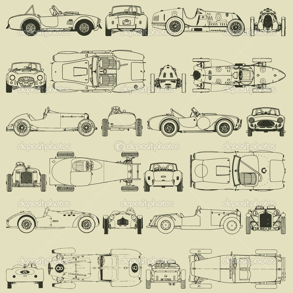 vintage car drawing wallpaper - Google Search | Mini cooper & harley ...