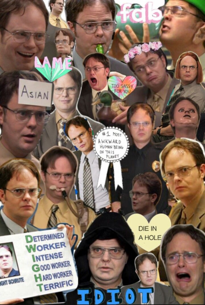 Dwight Shrute collage Office jokes, The office show