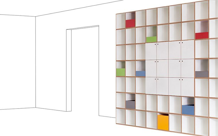 Regalsysteme Raumteiler raumteiler regalsystem paper collage study rooms