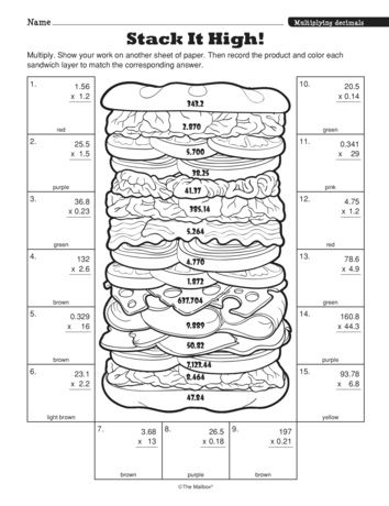 Stack It High Lesson Plans The Mailbox Multiplying Decimals Decimals Worksheets Decimals