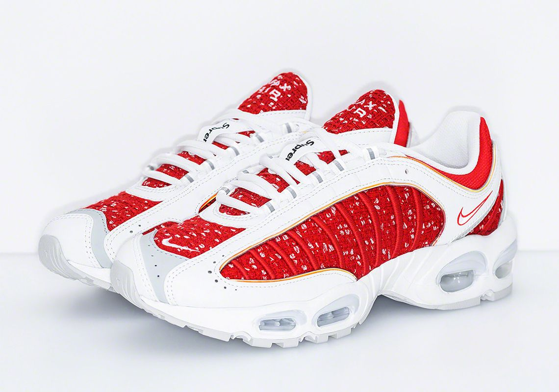 best service 44b9c fc716 Supreme x Nike Air Max Tailwind IV Releases This Week