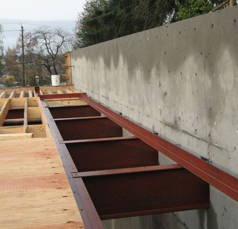 Steel Beam To Concrete Wall Foundation Prefabricated