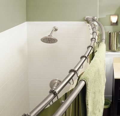 Double Shower Rod Double Shower Curtain Small Bathroom Shower Rod