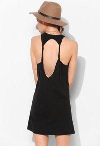 backless loose dress | she-pin.com