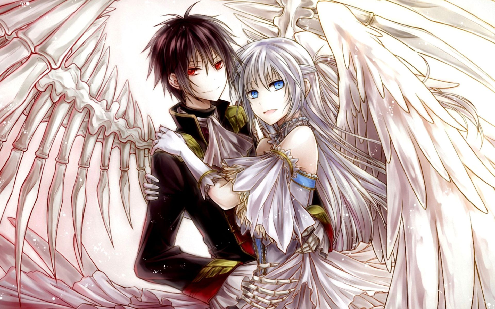Beautiful anime couple wallpaper hd images one hd - High quality anime pictures ...