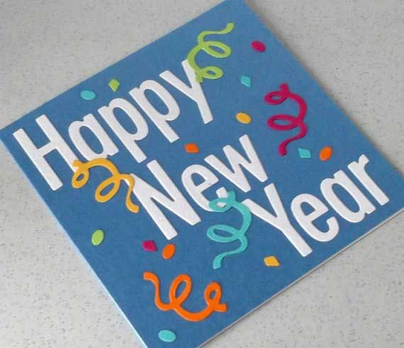 happy new year 2016 handmade cards