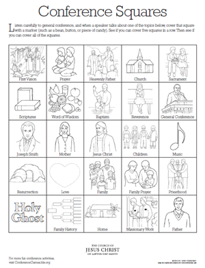 The Best General Conference Tie Coloring Page 2019