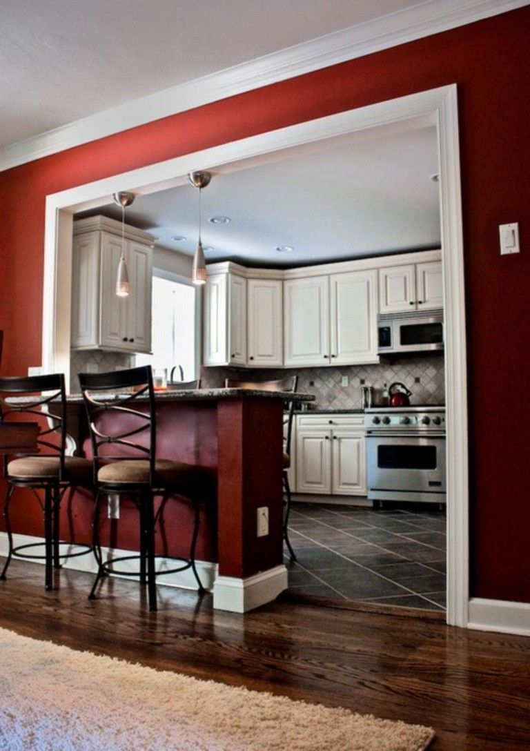 58 Awesome Half Wall Kitchen Designs Ideas Living Room Kitchen