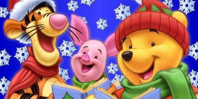 Winnie the Pooh Christmas Wallpapers with Tigger Cartoon