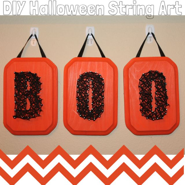 Easy #craft for kids! #DIY #Halloween String Art tutorial at simplybeingmommy.com