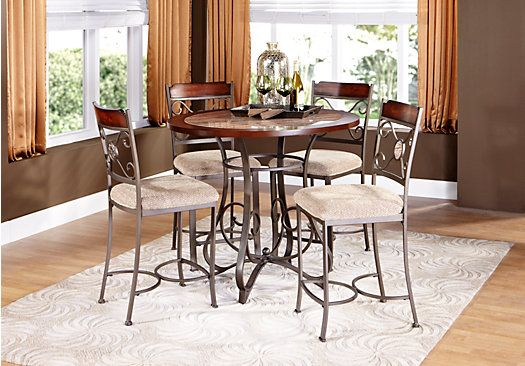 Jasmine Terrace Metal 5pc Counter Height Dining Room Kitchen Redo