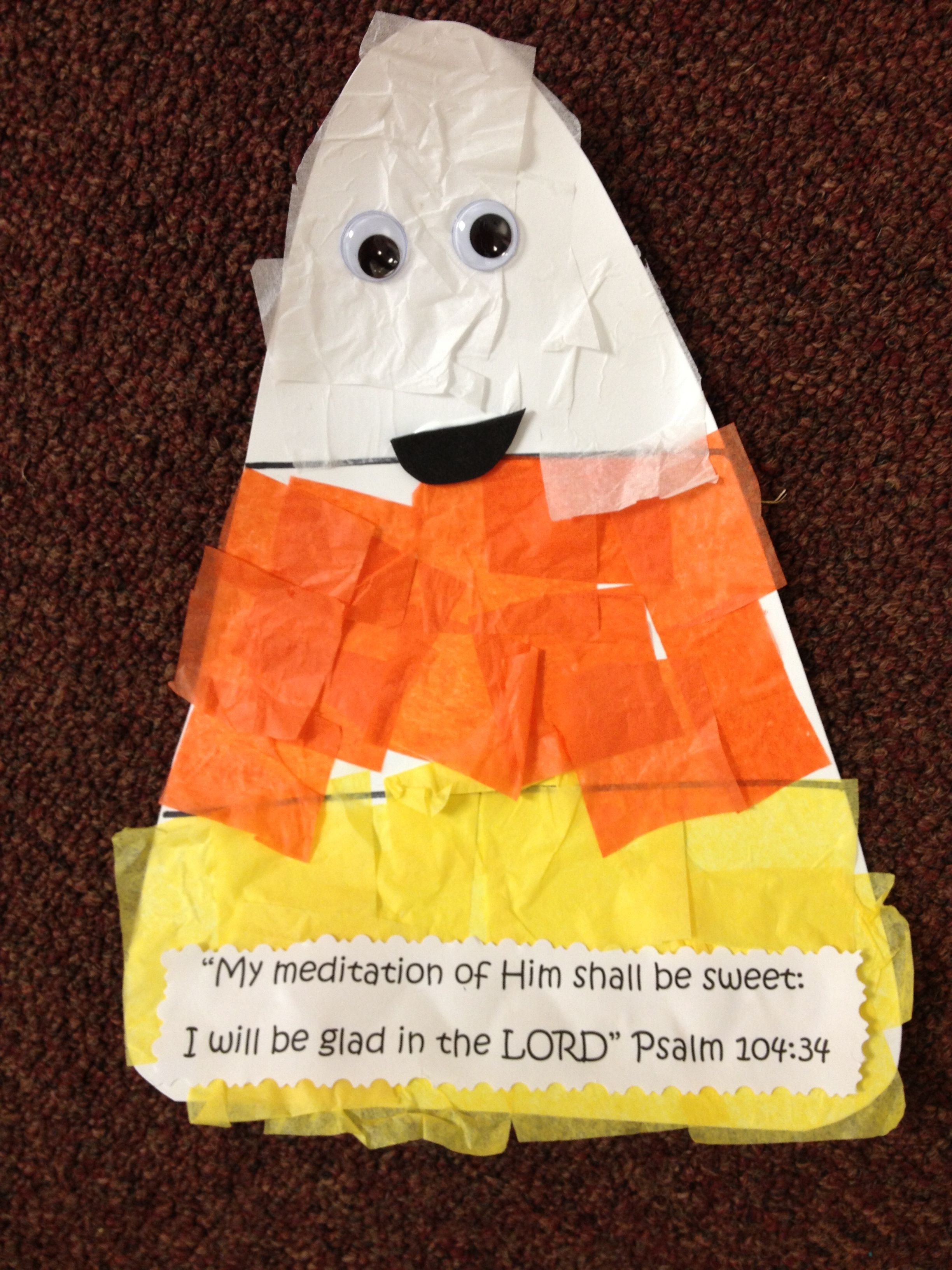 Candy Corn Fun With Bible Verse With Images