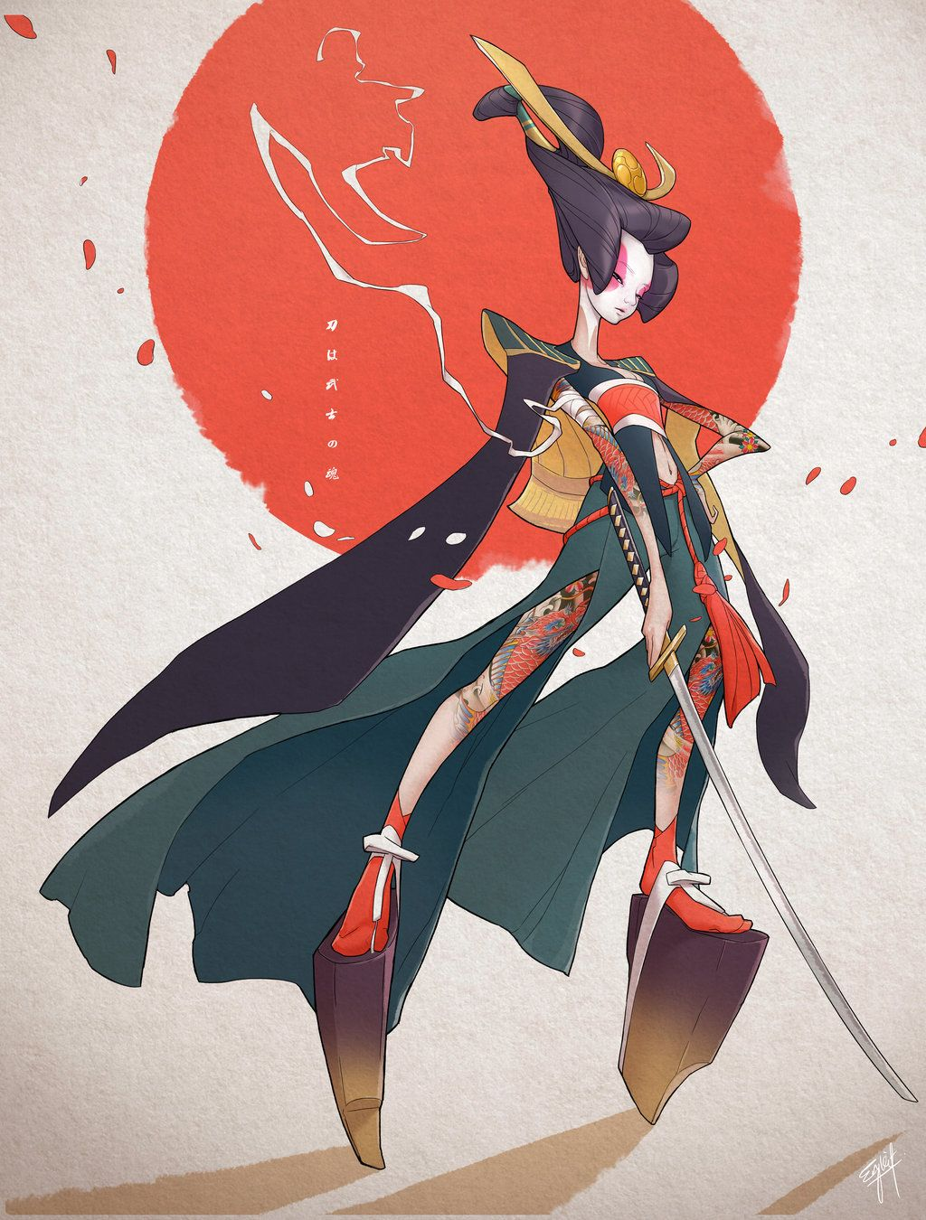 Character Design Challenge Onnabugeisha by engkit (With