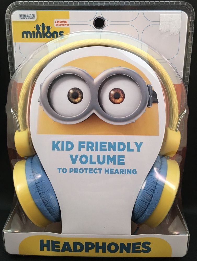 Minions Headphones Kid Friendly Volume To Protect Hearing