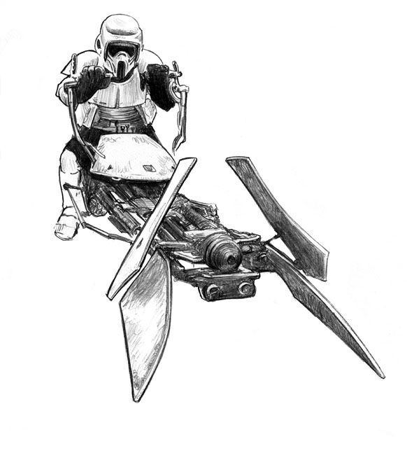 Star Wars Biker Scouts Coloring Pages