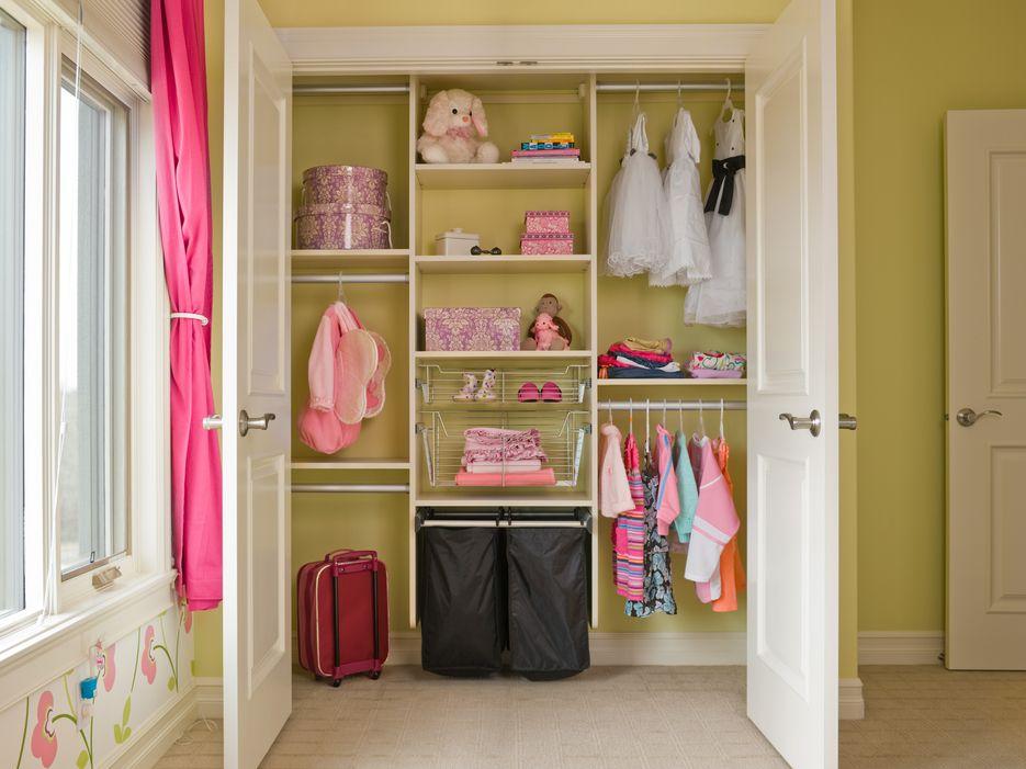 california closets kids closet butter yellow and pink organization kids walk in closet organizer t35 organizer