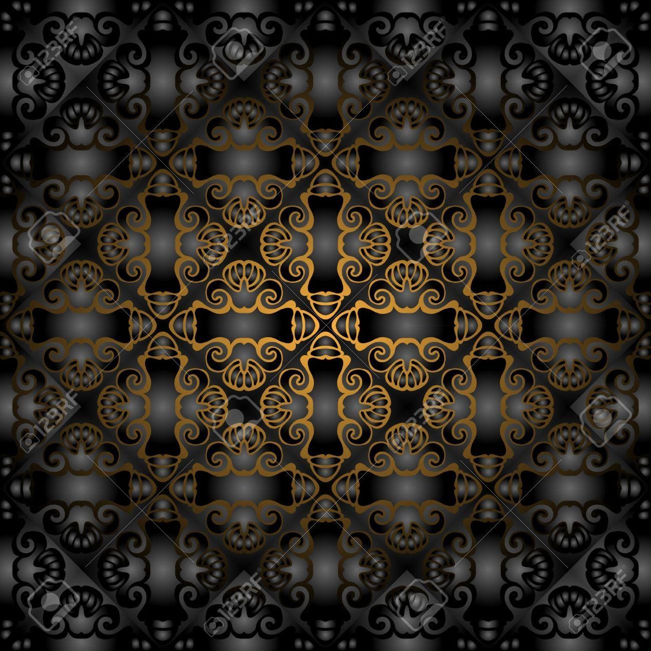 11571943-Gorgeous-black-gold-seamless-pattern-Stock-Vector-texture.jpg (1300×1300)