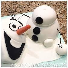 Bildergebnis für Fondant Torte Olaf frozen