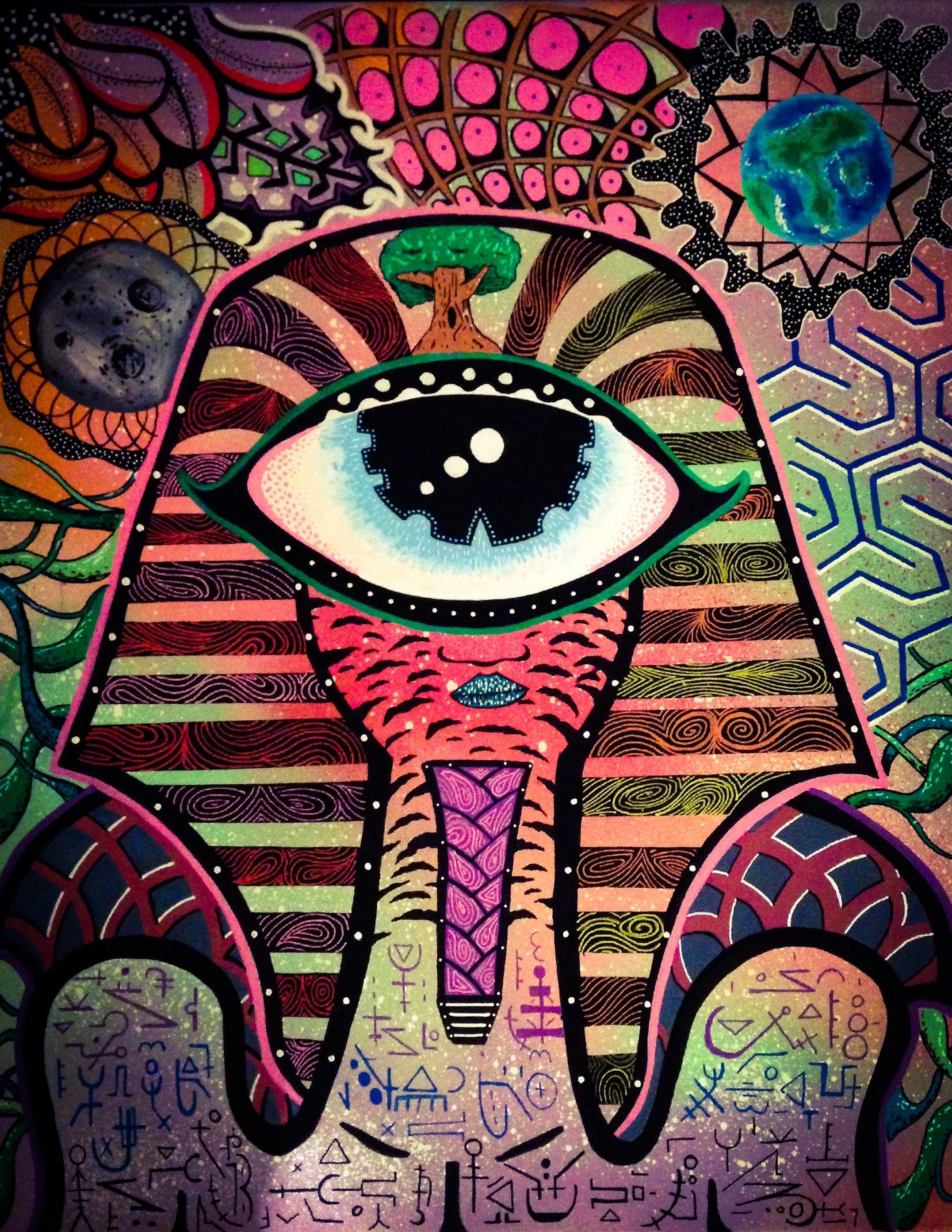 Психоделические картинки глаза