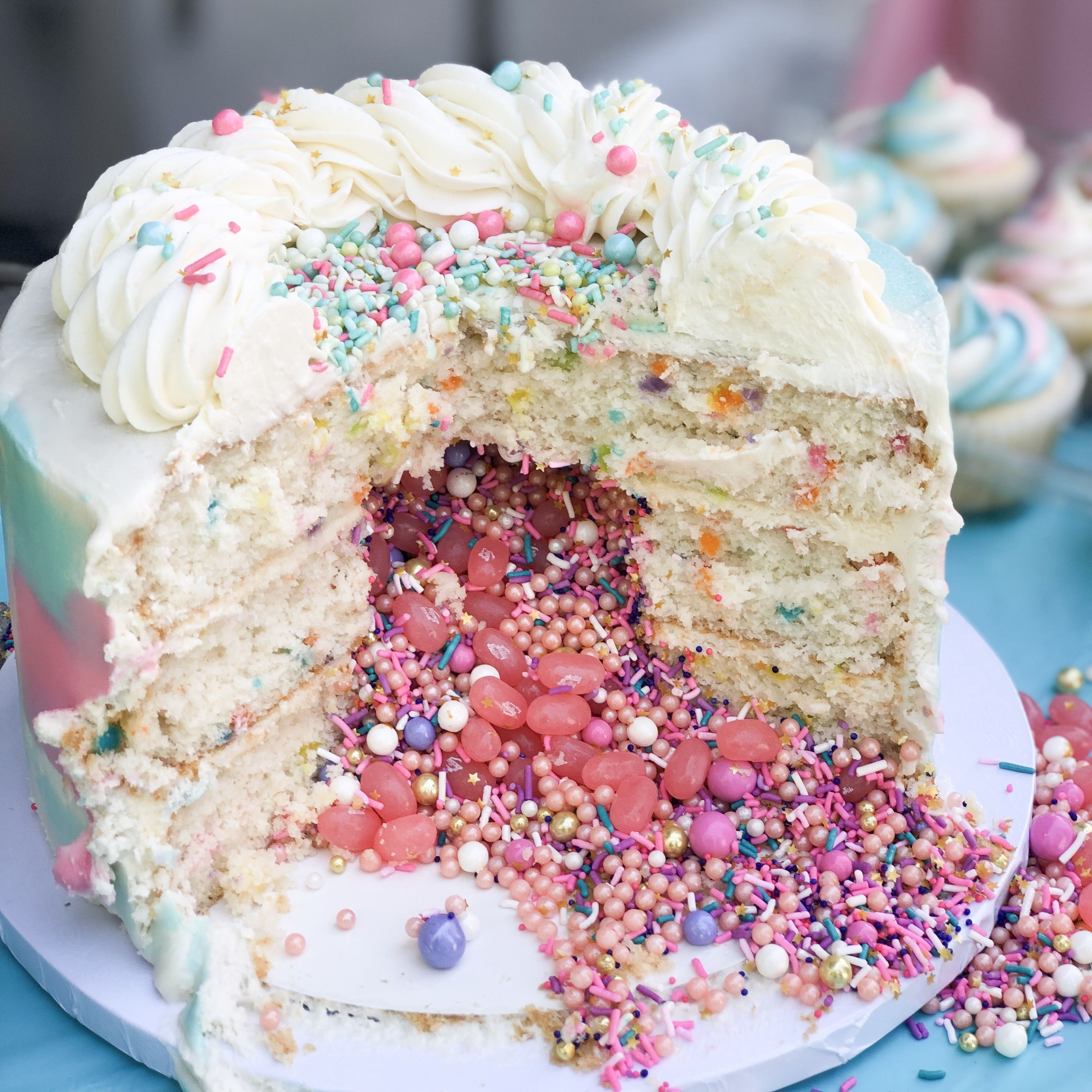 Gender Reveal Pinata Cake Gender Reveal Cake Custom Cakes Cake