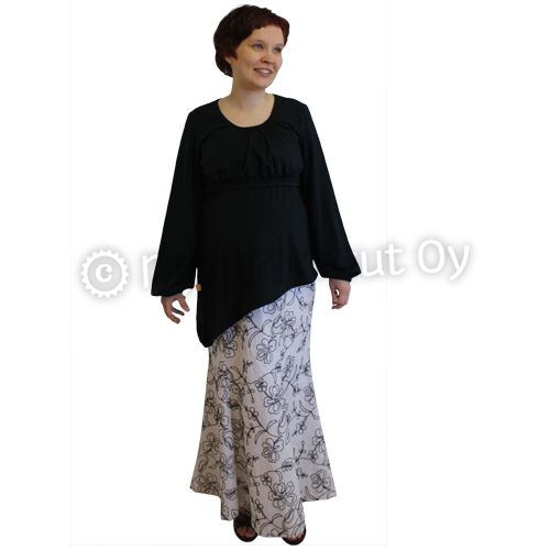 Mother-to-be-skirt, linen, embroidery
