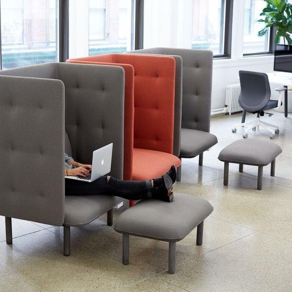 Gray Qt Privacy Lounge Chair In 2019 Furntiure Design 가구