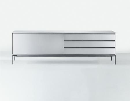 Contemporary mirrored sideboard white sideboard buffet for Mdfitalia it