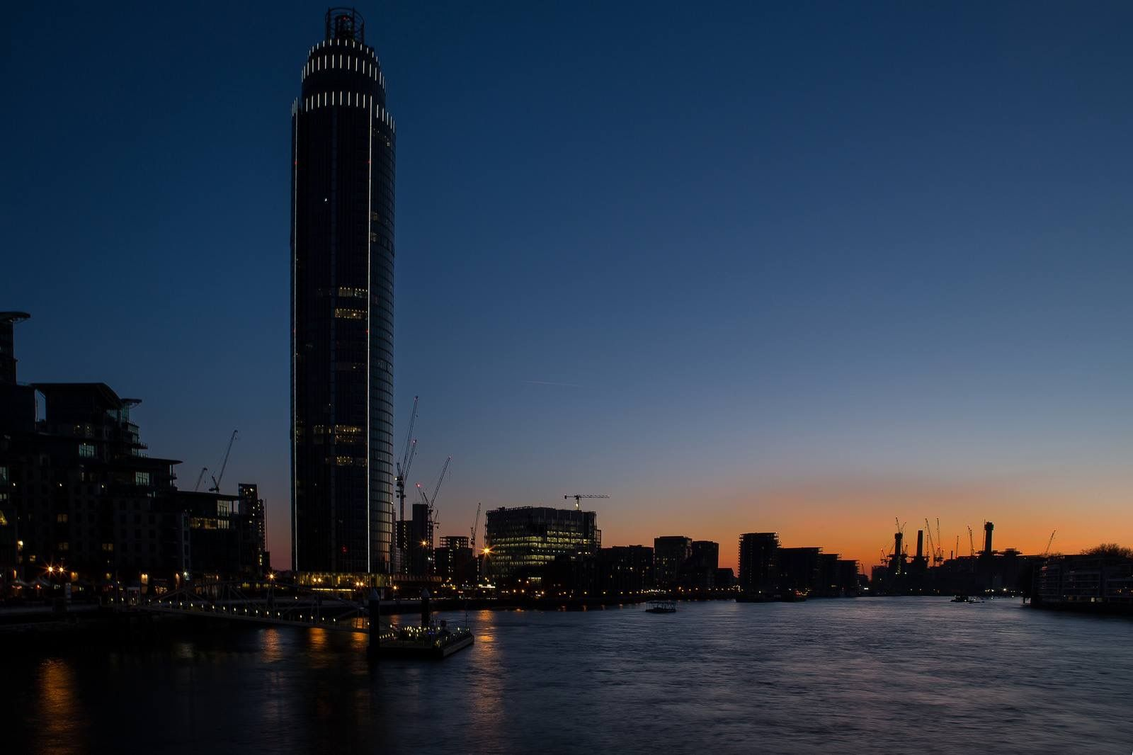 View of the Thames from Vauxhall, South London